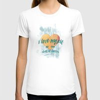 I Love Myself Womens Fitted Tee White SMALL