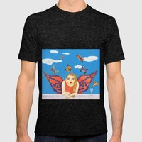 MARIPOSA O POLILLA ? Mens Fitted Tee Tri-Black SMALL