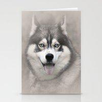 Siberian Husky 2 Stationery Cards