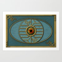 Steampunk Security Art Print