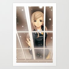 ANIME AND WINDOW Art Print