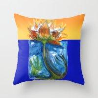 Wild Lotus Throw Pillow