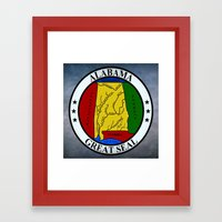 Alabama State Seal Clock… Framed Art Print