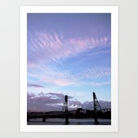 HAWTHORNE BRIDGE Art Print