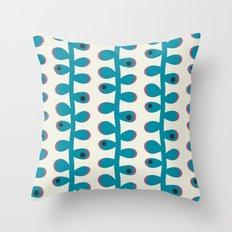 Like a Leaf [blue spots] Throw Pillow