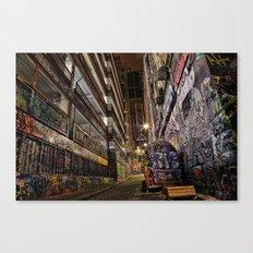 Graffiti Lane Canvas Print