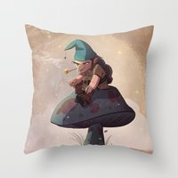 Gnome Away From Home Throw Pillow