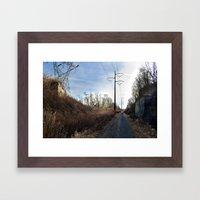 Abandoned Village Backroad Framed Art Print