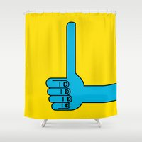 Thumbs Up Shower Curtain