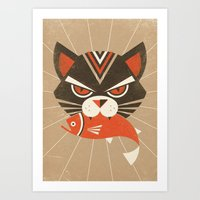 The Demon Cat (Fairy and Folk Tales of the Irish Peasantry) Art Print