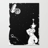 You Show The Moon, I Loo… Canvas Print