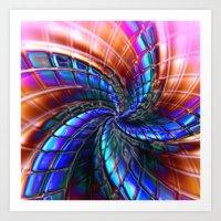 Cobalt Star Art Print