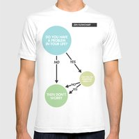 Zen Flowchart Mens Fitted Tee White SMALL