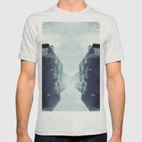 City In The Sky Mens Fitted Tee Silver SMALL