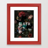 sloth Framed Art Print