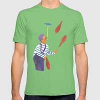 A Circus Performer Named… Mens Fitted Tee Grass SMALL