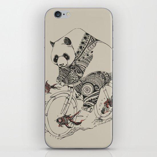 Panda and Follow Fish iPhone & iPod Skin