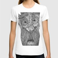 Tree Person Womens Fitted Tee White SMALL