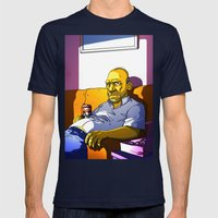 Depressed Homer Mens Fitted Tee Navy SMALL