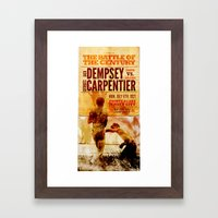 The battle of the century Framed Art Print