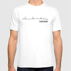 Chicago White Mens Fitted Tee SMALL
