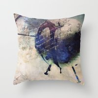 Rotten Apple Throw Pillow