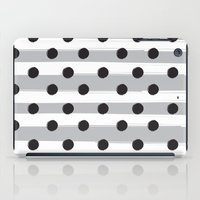 BLACK DOTS MEET WHITE STRIPES iPad Case