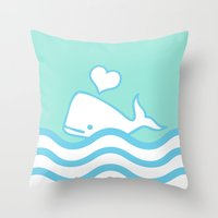 Whale Lover Throw Pillow