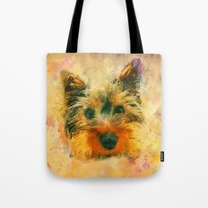 Dog Yorkshire Terrier Ar… Tote Bag