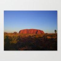 Uluru in the morning Canvas Print