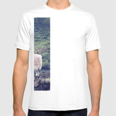 Living on the Edge Mens Fitted Tee SMALL White