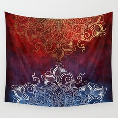 Mandala - Fire & Ice Wall Tapestry