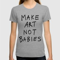 honey I don't like the kids Womens Fitted Tee Athletic Grey SMALL