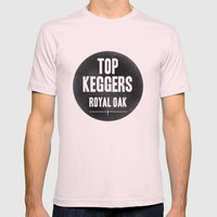 Top Keggers Mens Fitted Tee Light Pink SMALL