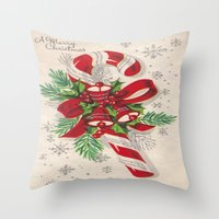 A Vintage Merry Christma… Throw Pillow