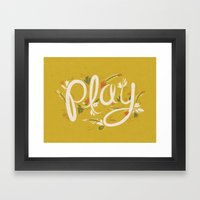 Play - Yellow Framed Art Print