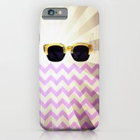 iPhone & iPod Case featuring Sunglasses with chevron by Ylenia Pizzetti