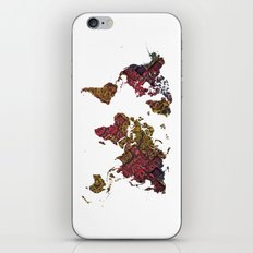 World Map iPhone & iPod Skin