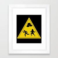 Full Moon - Take Caution… Framed Art Print