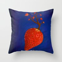 Strawberry Concept Throw Pillow