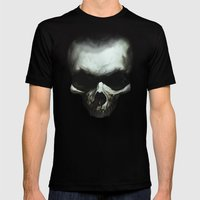 Dark Skull Mens Fitted Tee Black SMALL
