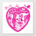 Love and Other Fairy Tales Pink Edition Canvas Print