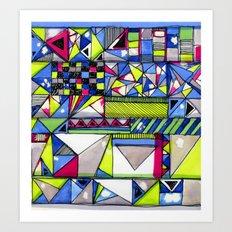Neon Textures Art Print