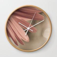 pink. Wall Clock