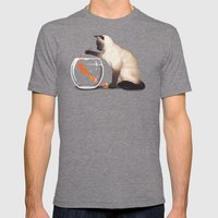 Goldfish need friend Mens Fitted Tee Tri-Grey SMALL