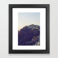 Fira at Dusk III Framed Art Print