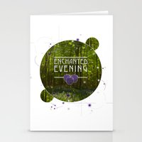 Stationery Card featuring ENCHANTED by Halo Jones