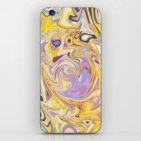 Yellow And Purple Car Wa… iPhone & iPod Skin