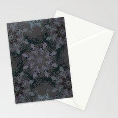 Damask, grey Stationery Cards