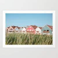 Stripes Row Art Print